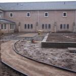 binnentuin klooster padenstructuur