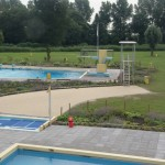 zwembad waterdam beplanting vooraf